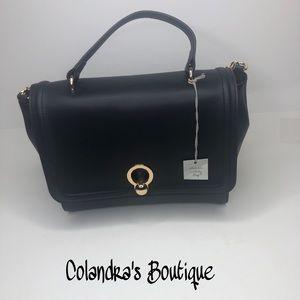 Black Trapeze Handbag